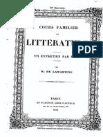 M.de Lamartine - Cours Familier de Littérature - Entretien 32