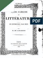 M.de Lamartine - Cours Familier de Littérature - Entretien 52