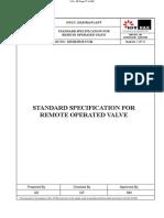 Standard Spec for ROV