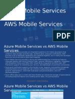 Azure Mobile Services Battlecard