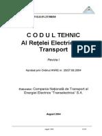 01-Ord-20-Codul Tehnic Al Retelei Electrice de Transport - Revizia 1