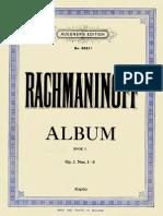 Rachmaninoff - Album Op.3