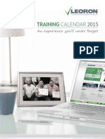 Training Calendar 2015