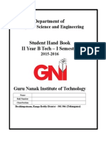 II Year CSE Hand Book Word