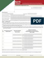 E Instruction Registration Form