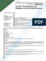NBR 5738 - Moldagem de Corpos de Prova de Concreto