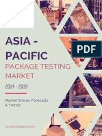 Asia Pacific Package Testing Market By Primary Packaging Material, Packaging Services, Countries And Vendors - Forecasts, Trends And Shares (2014- 2019)
