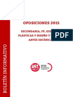 Boletín Oposiciones Secundaria 2015