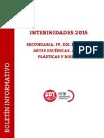 Boletín interinos 2015