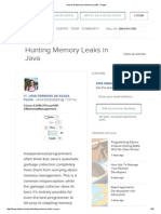 How to Detect Java Memory Leaks