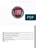 Fiat Ulysse 2009 Misc Documents-Sound System