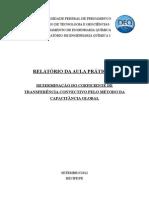 DETERMINAÇÃO DO COEFICIENTE DE TRANSFERÊNCIA CONVECTIVO PELO MÉTODO DA CAPACITÂNCIA GLOBAL