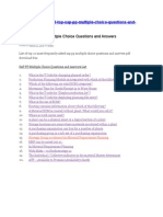 SAP PP Multiple Choice Questions and Answers List