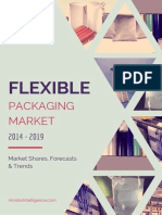 Global Flexible Packaging Market by Packaging Materials, Food Products,End User Industry, Geography and Vendors - Forecasts, Trends and Shares (2014- 2019)