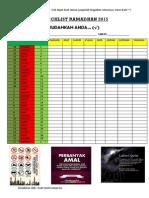 Checklist Ramadhan 2015