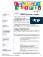 PSI Site Do CRP SP - Site Do Conselho Regional de Psicologia Da 6ª Região - CRP SP - Orientação - Resoluções - Resolução CFP Nº 001_2002