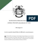 animal welfare act amendment