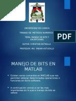 Manejo de Bits en Matlab