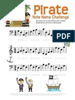 Pirate Note Name Worksheet