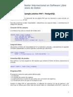 Ejemplo PHP + PostgreSQL