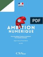 """Rapport du Conseil national du numérique """"Ambition numérique"""""""