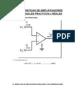 Caracteristicas de Amplificadores Operaciones Practicos - Exposicion