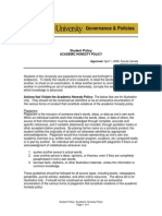Academic Policy - Academic Honesty and Dishonesty
