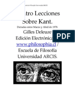 DELEUZE, Gilles (1978) - Cuatro lecciones sobre Kant (ARCIS).pdf