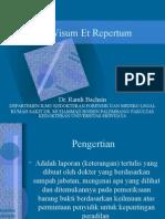 Visum Et Repertum Edit, Dengan Latihan Soal