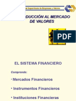 Mercados Financieros y de Valores