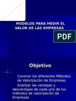 Modelos de Valorizacion de Empresas
