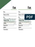Hoja de Fax 2