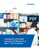 Amendment to the Health Insurance Act effective as of May 1st, 2015 in Slovakia | News Flash