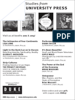 Duke University Press program ad for the American Studies Association conference 2015