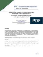 Investigacion Los Desafios de La Cultura Participativa Software Libre y Universidades