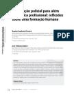 Artigo Publicado - A Formação Policial Para Além Da Técnica Profissional - Reflexões Sobre Um Formação Humana