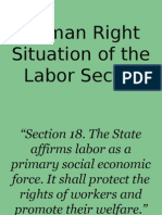 Human Right Situation of the Labor Sector