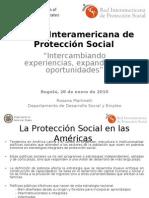 Desarrollo de la Red Interamericana de Protección Social. Rossana Martinelli- OEA