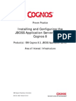 Configuration of COGNOS and JBOSS