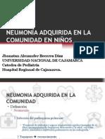 Neumonia adquirida en la comunidad - Pediatria