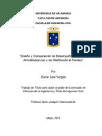 Diseño y Comparación de Desempeño de Marcos Arriostrados Con y Sin Restricción Al Pandeo