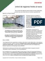 Estado Pierde Control Regiones Frente Narco