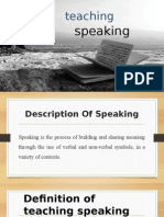 Ppt Teaching Speaking