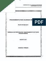 PE-EP-OP-0024-2011 Para El Guarnido Del Block