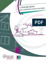 Guide biotech Energie grise des matériaux et des ouvrages - ARENE-ICEB - 2012