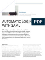 Automatic login with SAML