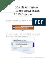 Creacion de nuevo proyecto en  Visual Basic 2010 Express.docx