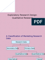 Exploratory Research Design