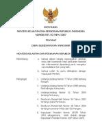 KEPMEN 2007-02 Ttg Cara Budidaya Ikan