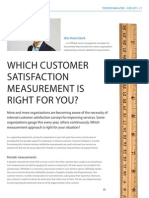 Which customer satisfaction measurement is right for you?